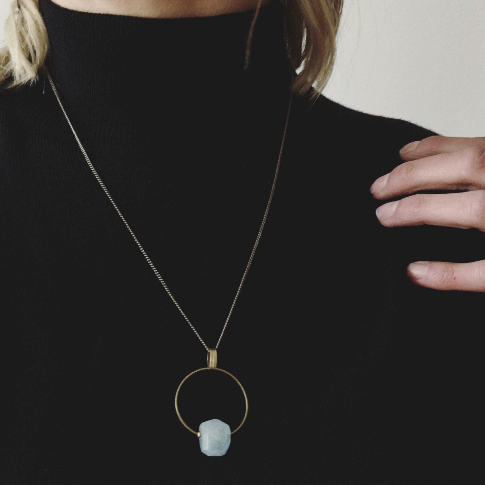 Lina Aquamarine 28 Necklace