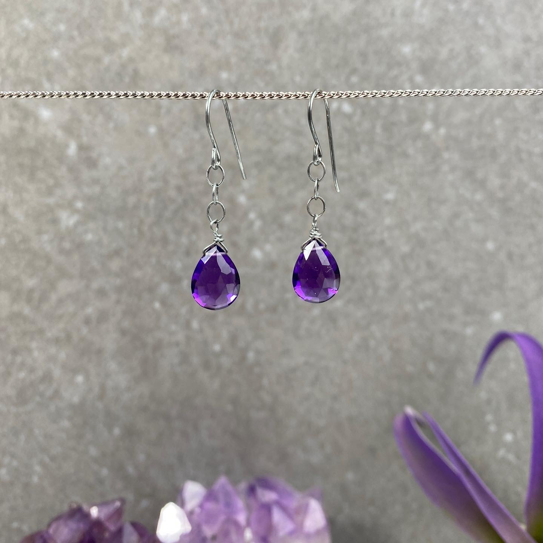 Amethyst & Sterling Silver Earrings