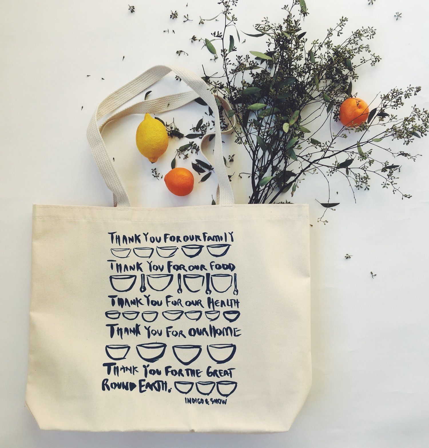 Giving Thanks Recycled Tote Bag