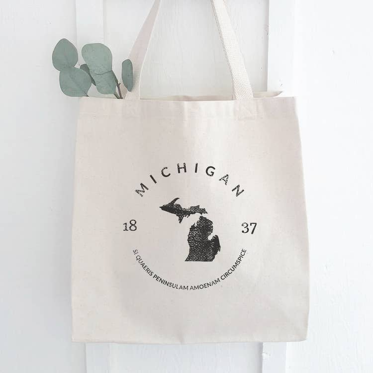 Michigan Motto Canvas Bag
