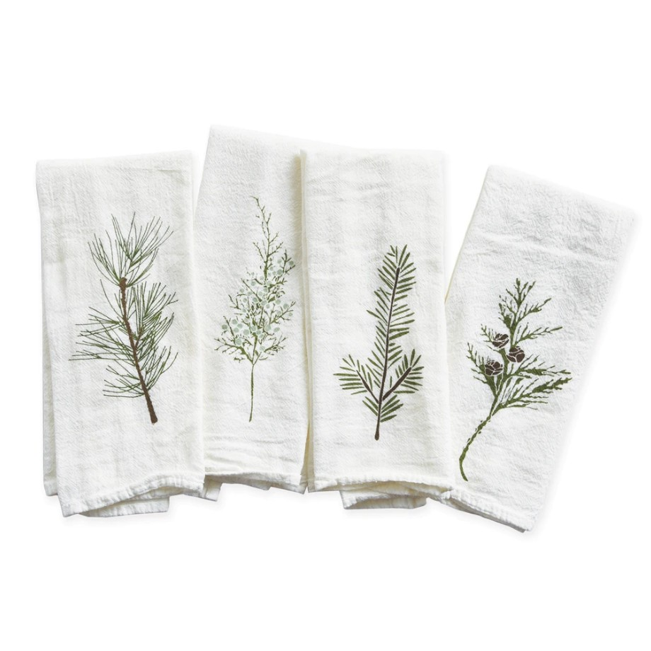 Winter Greens Napkin Set/4