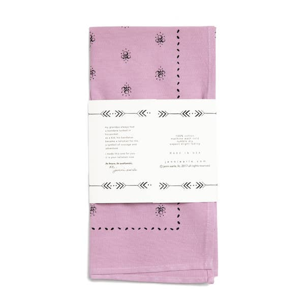 Chin Up Buttercup Bandana in Muted Plum