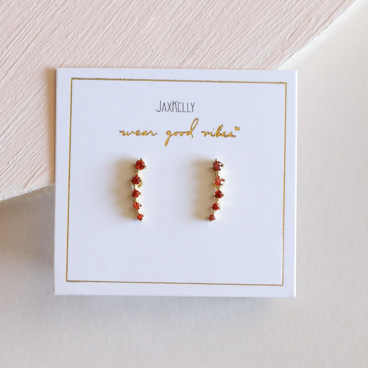 Amber 18kGP Crawlers Earrings