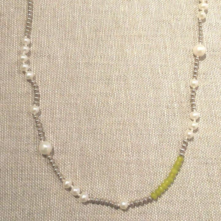 Pearl Sterling Siver & Labradorite Necklace