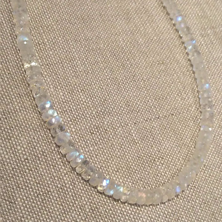 Large Stone Moonstone Necklace