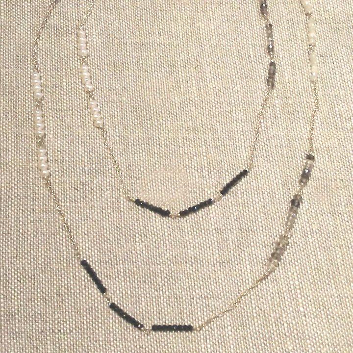 Pearl Quartz & Sterling Necklace
