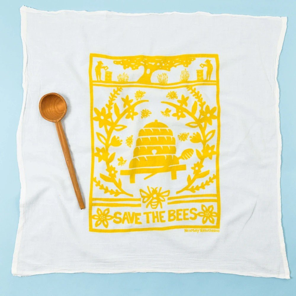 Yellow Bees Kitchen Towel