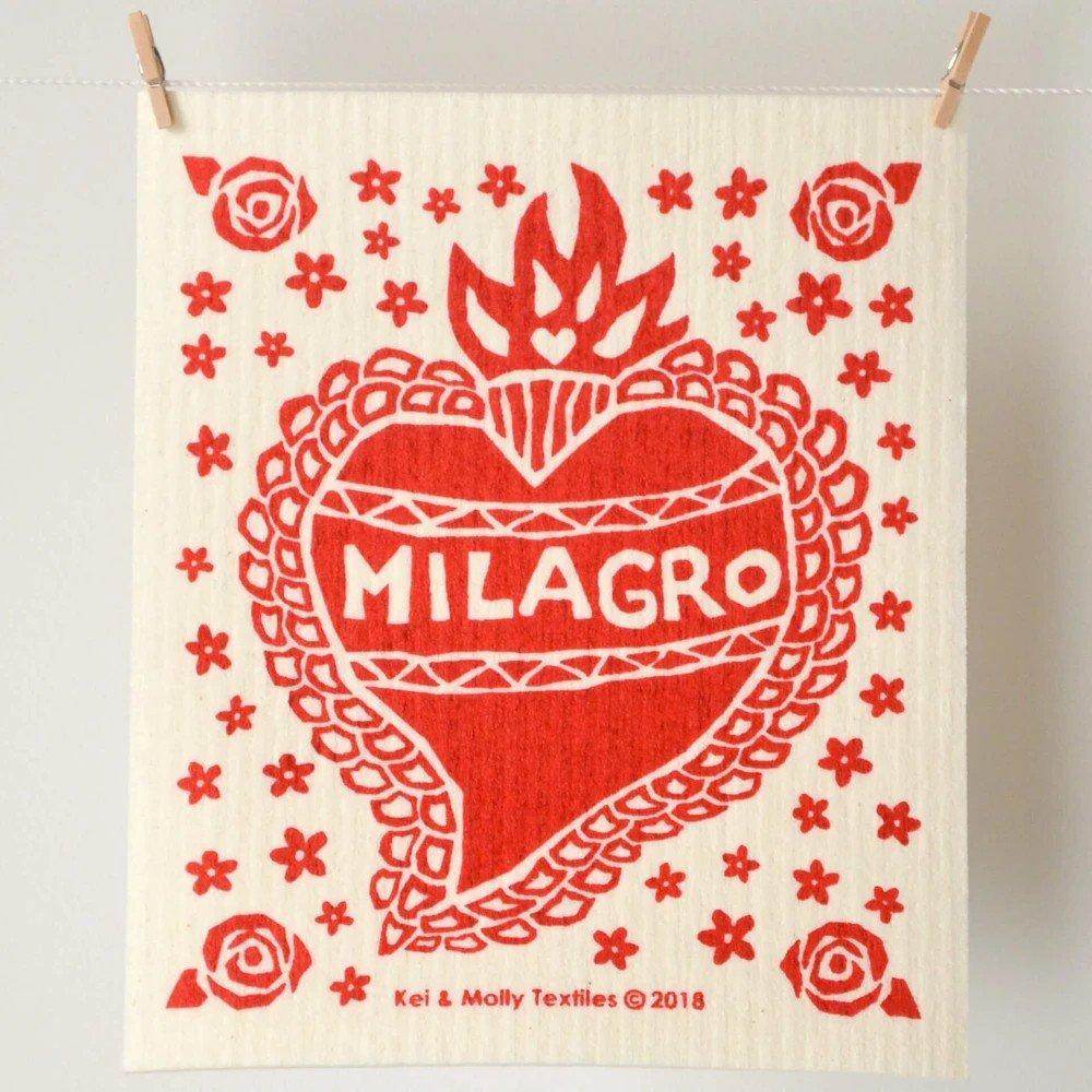 Red Milagro Sponge Cloth