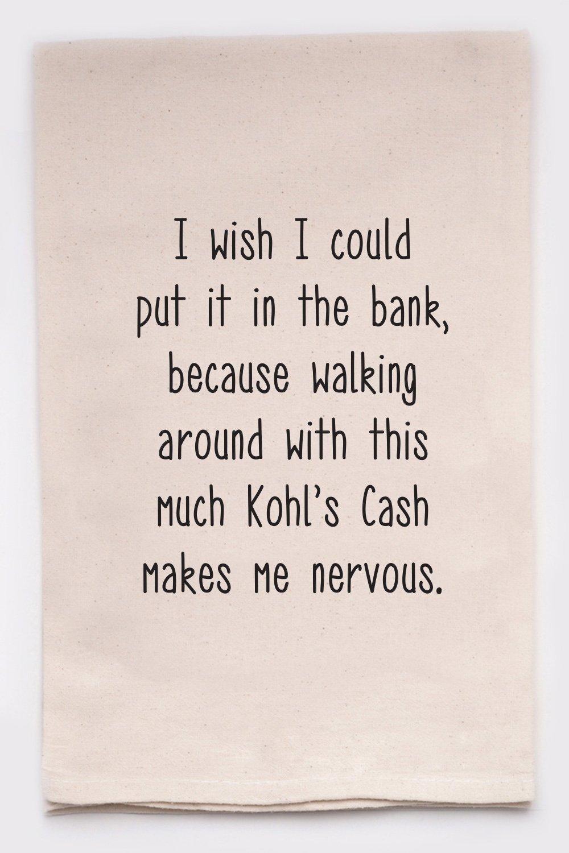 Kohl's Cash Tea Towel
