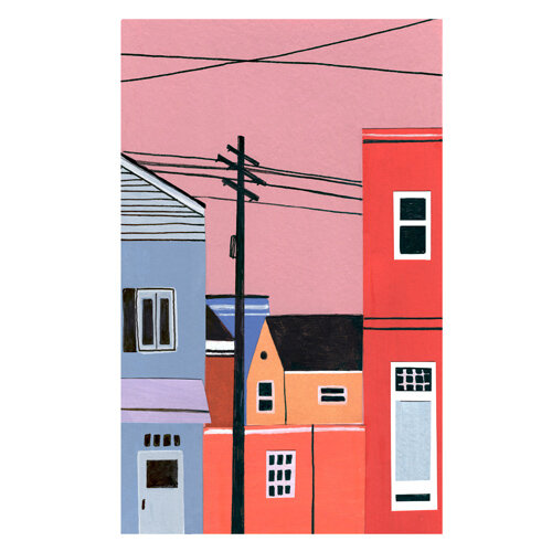 City Sunset Print