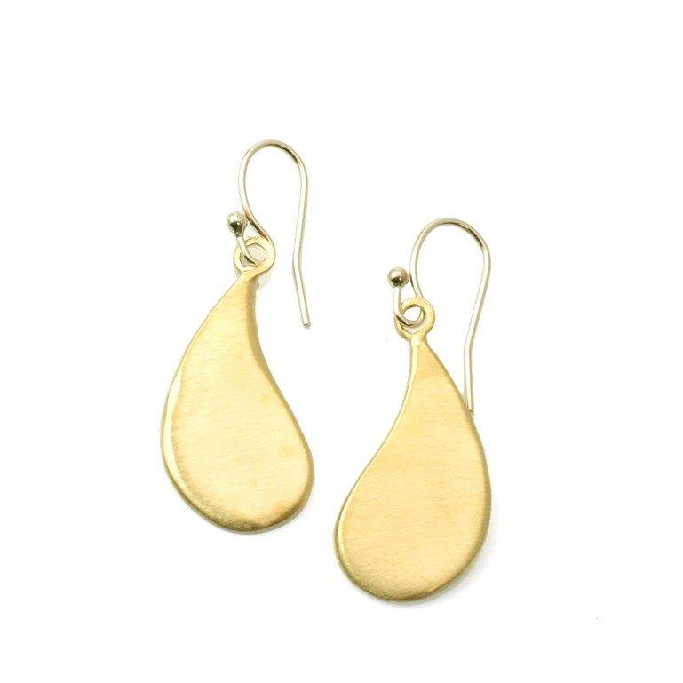 Large Drop Vermeil Earrings