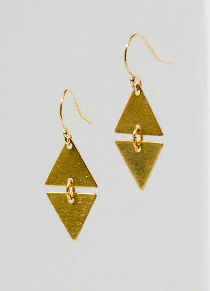 Alta Brass Earrings