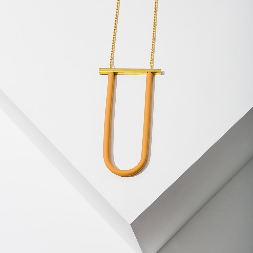 Bauhaus Peach Necklace