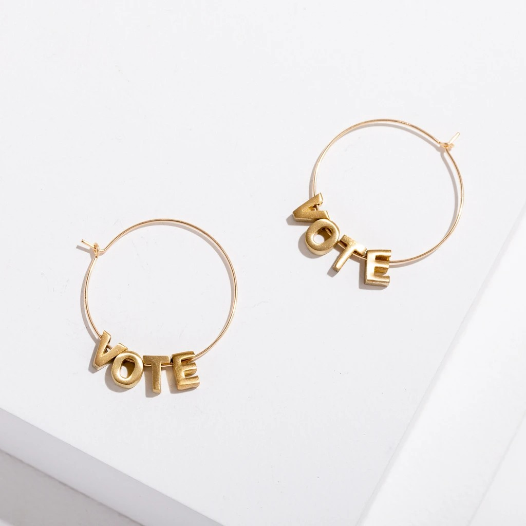 VOTE 18k Gold Plated Earrings