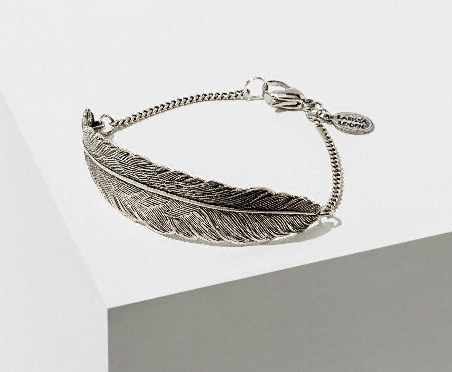 Feather Cuff Silver Bracelet
