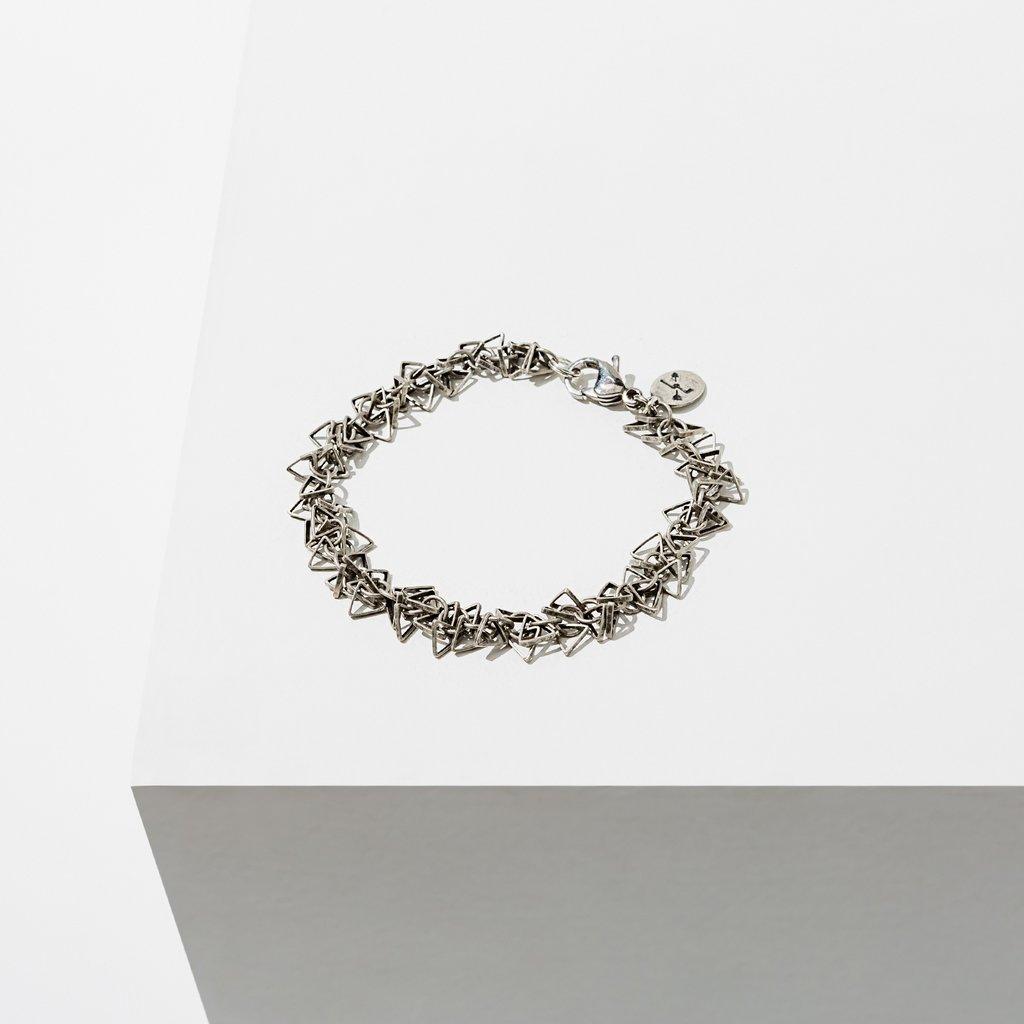 Geometric Silver Bracelet