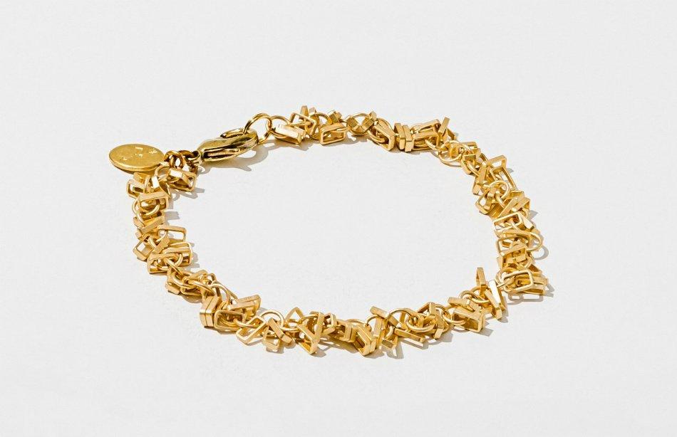 Geometric Matte Gold Bracelet