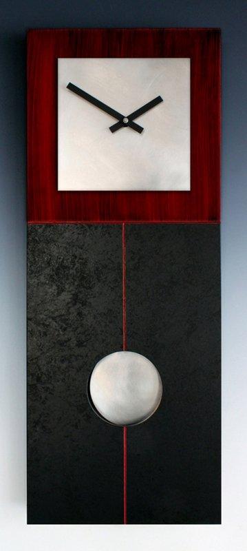 Jane Black & Red Pendulum Clock