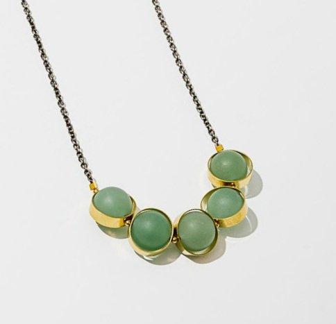 Align G Aventurine Brass Necklace