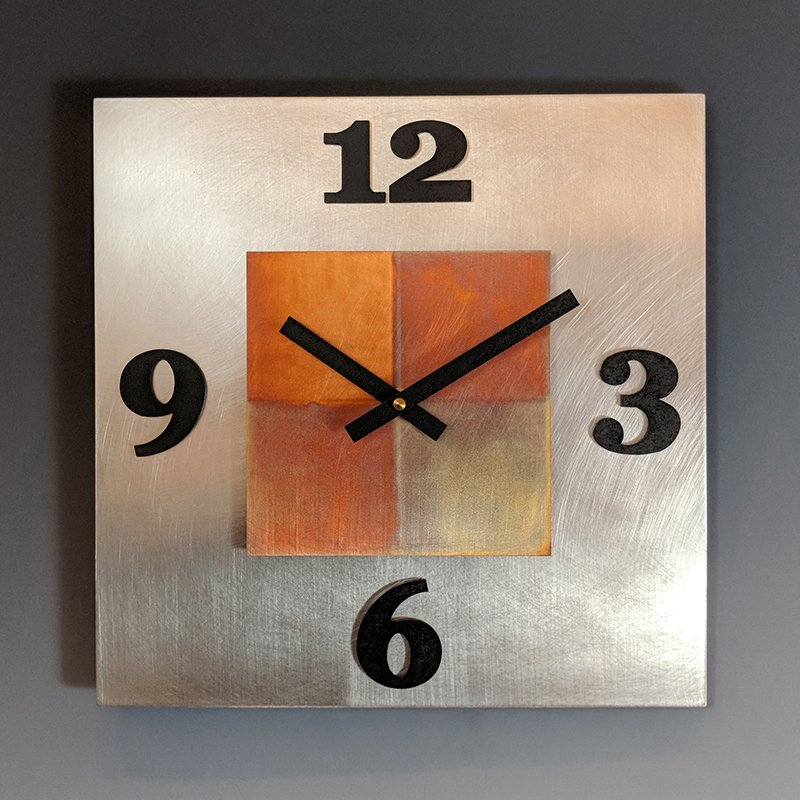 Kitchen Steel Wall Clock