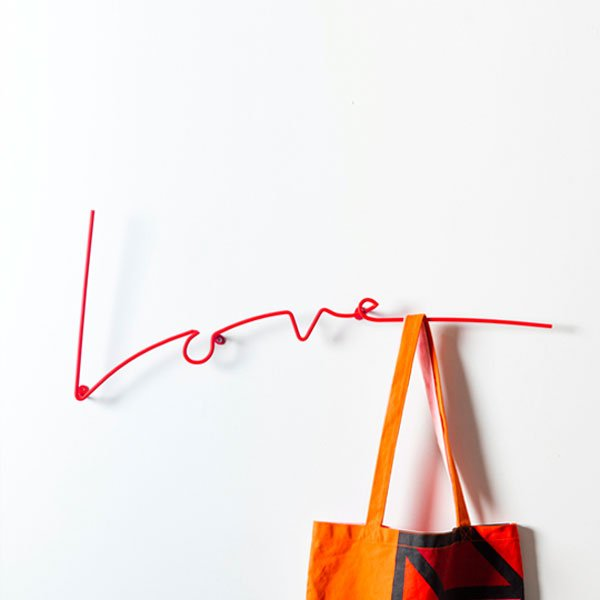 Love Wall Rack in Red
