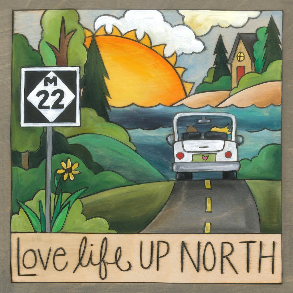 Up North 9x9 Plaque