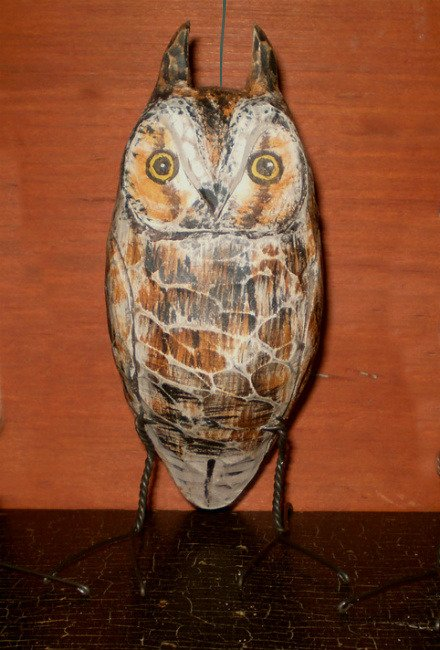 Long-Eared Owl Carving