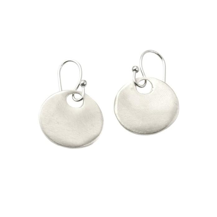 Medium Circle Sterling Earrings
