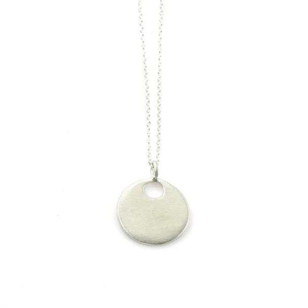 Medium Sterling Circle Necklace
