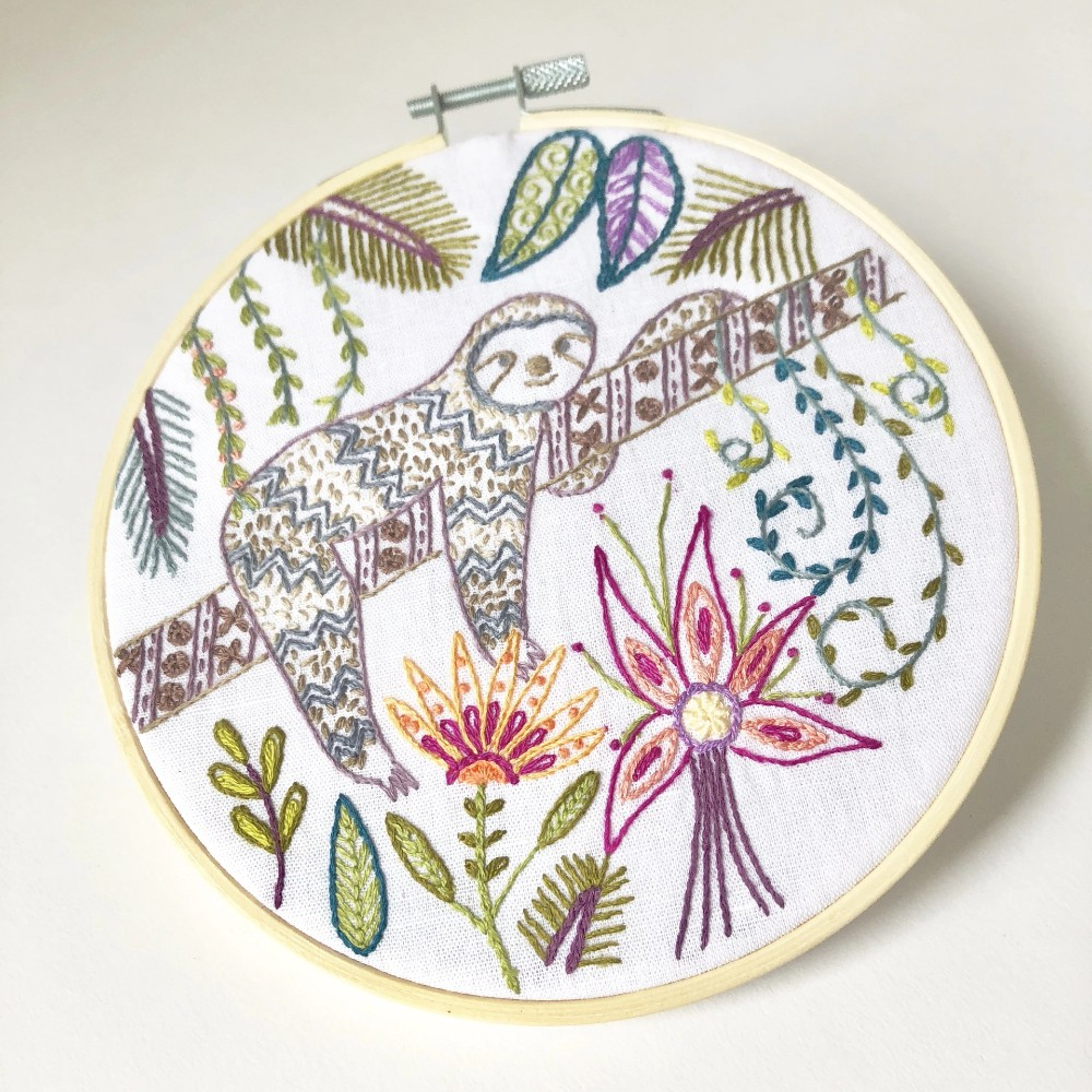 Dede the Sloth Embroidery Kit
