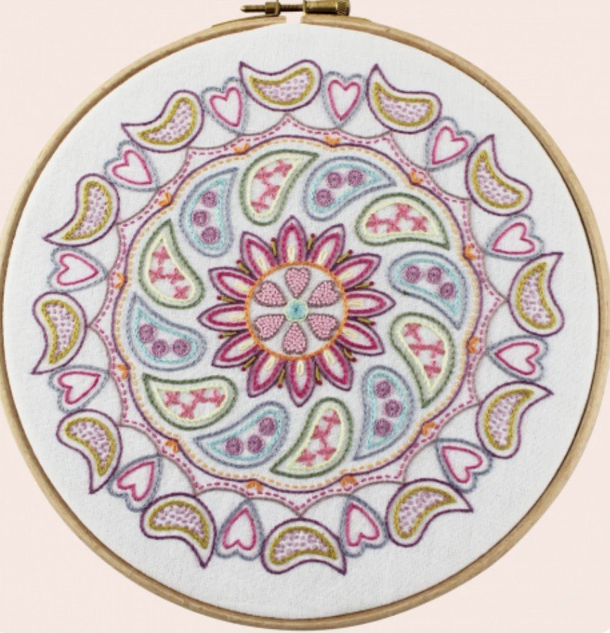 Mandala Embroidery Kit