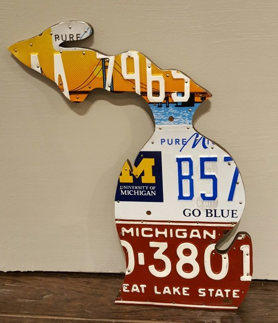 License Plate Michigan - Large