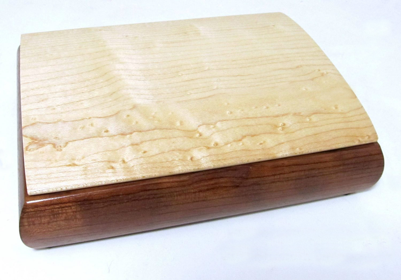 Tranquility Jewelry Box in Bubinga & Birdseye Maple