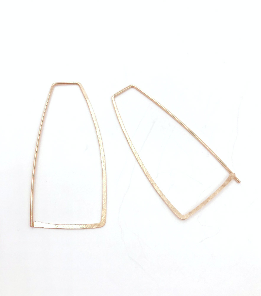 Geo Hook 14kGF  Earrings