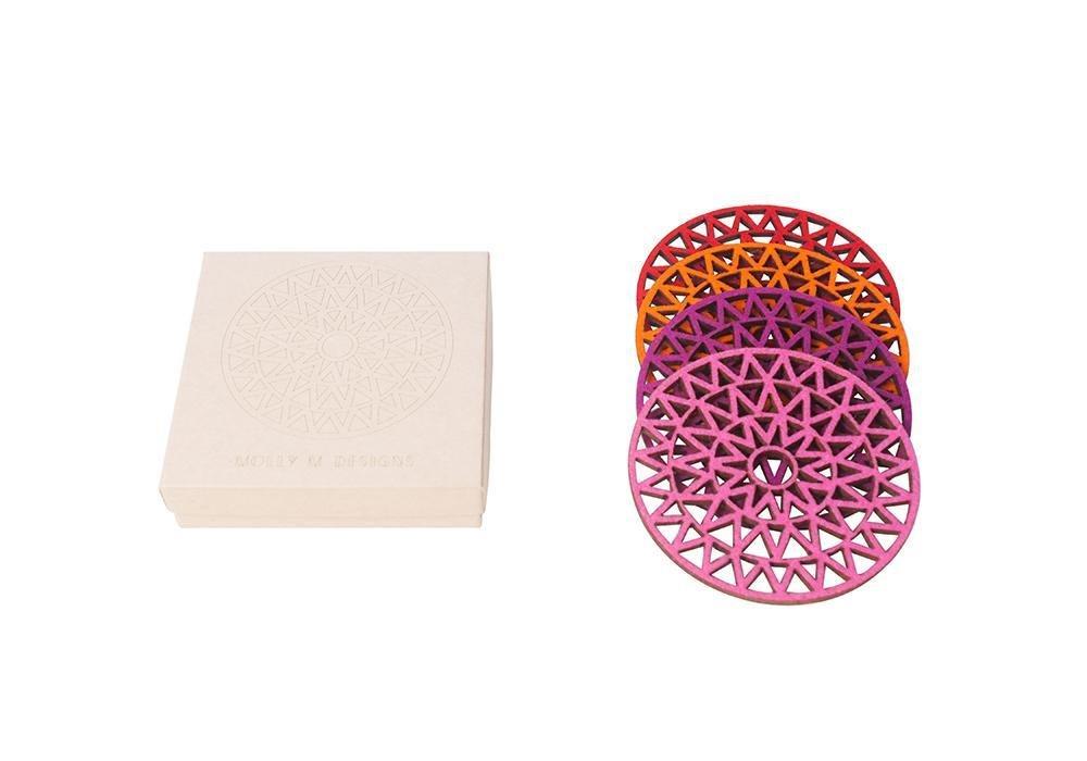 Yves Felt Coaster Set/4