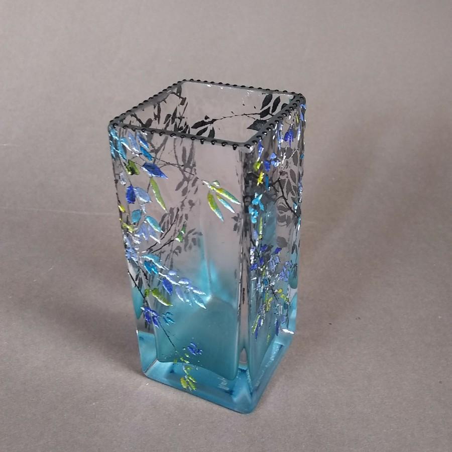 Big Tiny Rect Alder Blue Vase