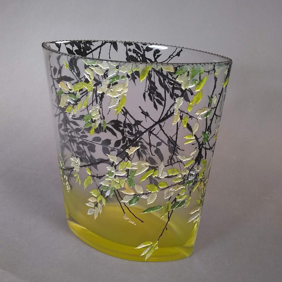 Med Oval Alder Yellow Vase