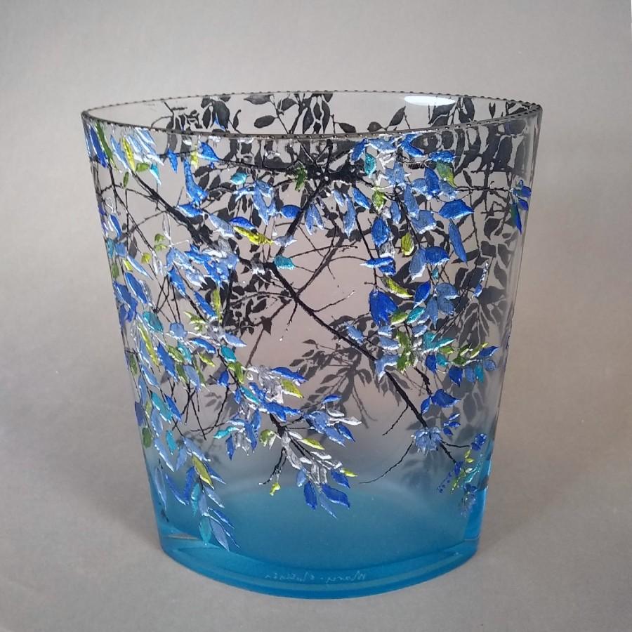 Med Oval Alder Blue Vase