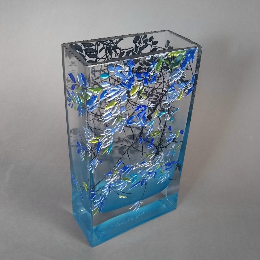 Large Brick Alder Blue Vase