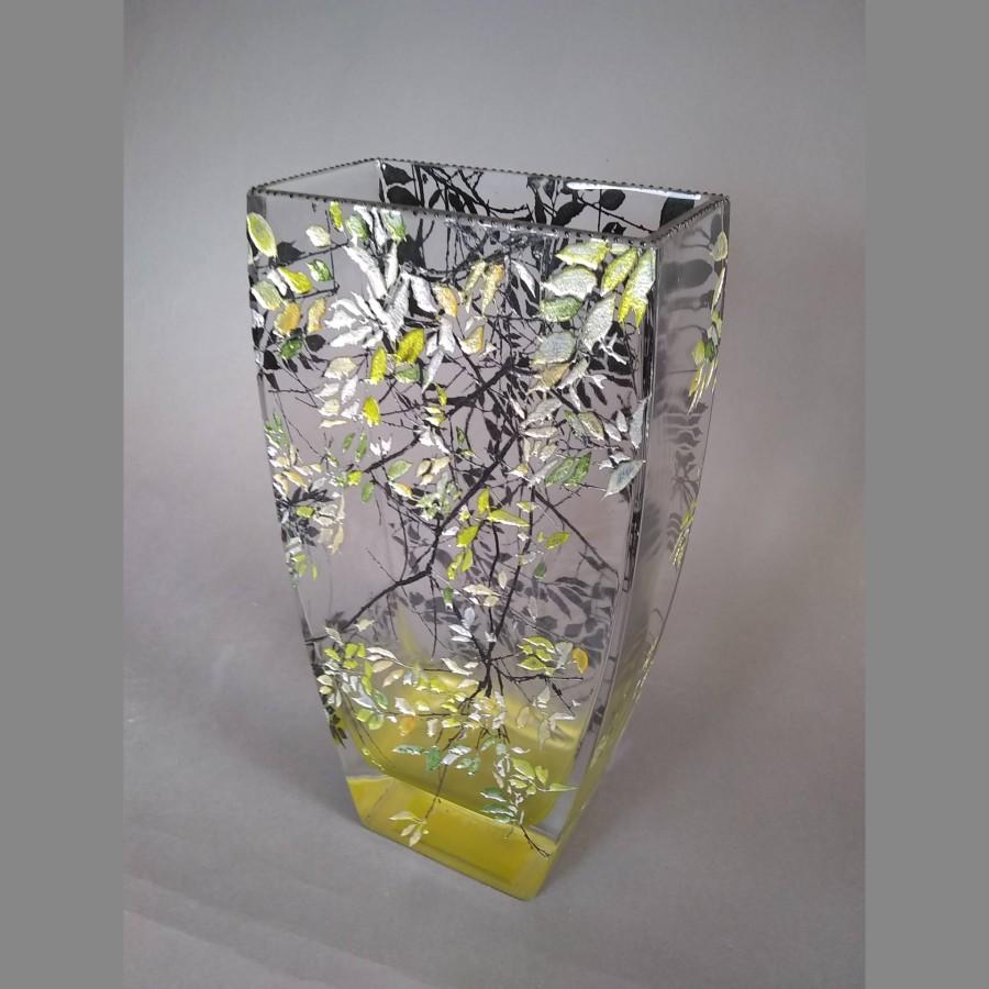 Medium Basket Vase in Alder Yellow