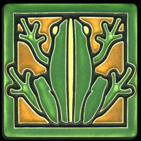 Frog 4x4 Tile in Green