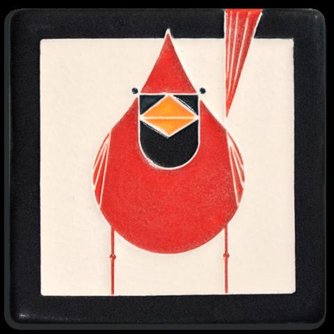 Male Cardinal 4x4 Tile