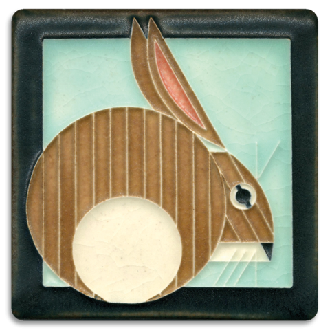Hare 4x4 tile on Light Blue