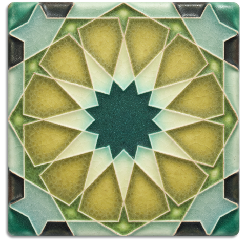 Alhambra 4x4 Deco Tile in Periwinkle