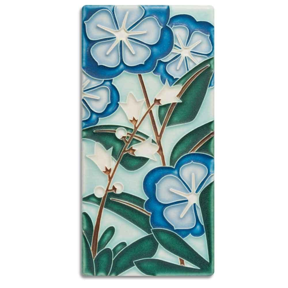 Starry Flowers Blue 4x8 Tile