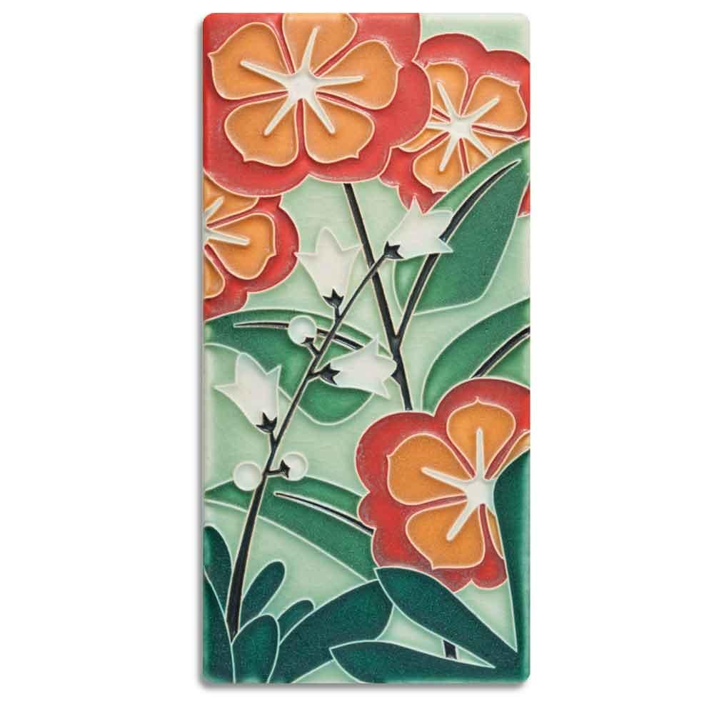 Starry Flowers Grn 4x8 Tile