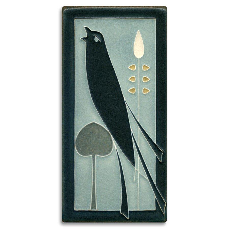 Songbird 4x8 Tile (L) on Grey Blue