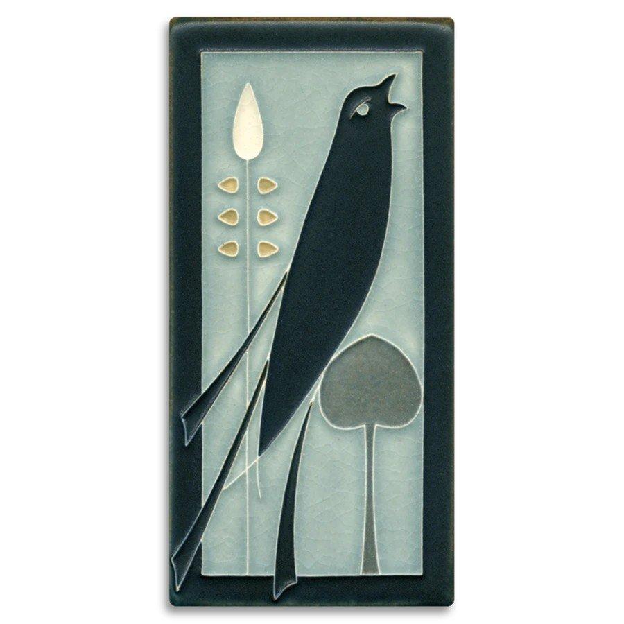 Songbird 4x8 Tile (R) on Grey Blue