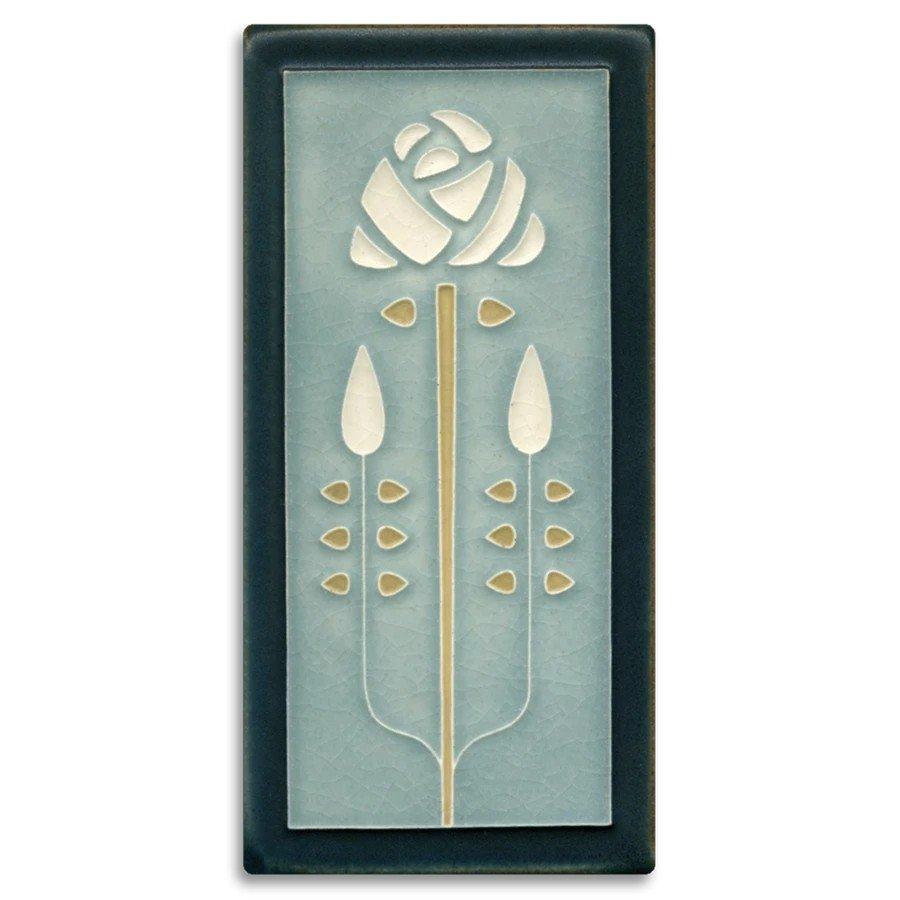 Long Stem 4x8 Tile in Grey Blue