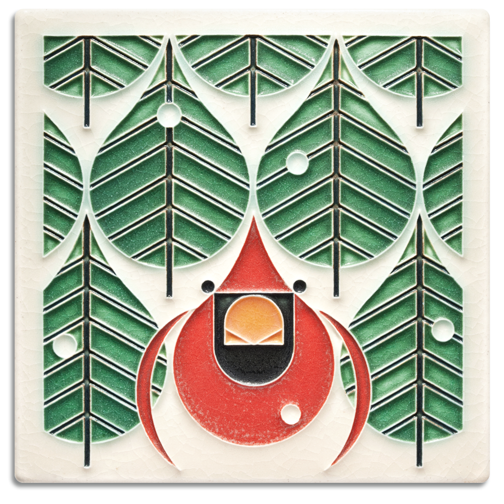 Coniferous Cardinal 6x6 Tile